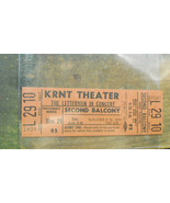 KRNT Theater Ticket From late 1960s to early 1970s The Letterman In Concert - $14.99
