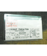 KRNT Theater Ticket From late 1960s to early 1970s The Temptations - $14.99