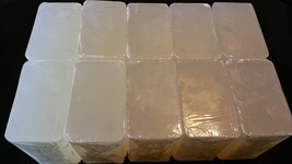 10 Lb Extra Crystal Clear Melt And Pour Soap Glycerin Wholesale For Embeds Toys - $43.95