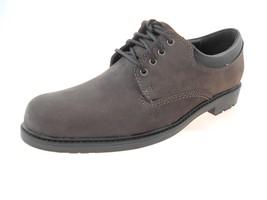 Clarks Oakdale Pln Toe 63304 Men's Dk Brown Waterproof Leather Shoes Size 9 - $64.35