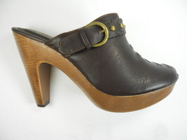 WANTED GRETEL BROWN PLATFORM WEDGE HI-HEELS - $9.99