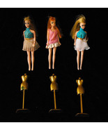 Dawn Doll Lot 3 Dolls With Dress Forms Topper 1... - £26.26 GBP