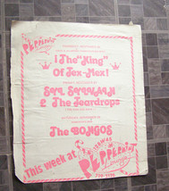 Peppermint Lounge Poster Vintage 1980s New York Dolls Syl Sylvain & The ... - $24.99