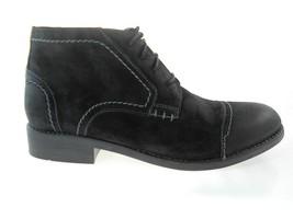 Clarks Wallace 4 Eye Bt Black Suede Boots Men's Size 7.5, #62227 - $71.49