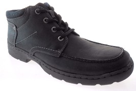 CLARKS NEWBERN UP MEN'S BLACK NUBUCK LEATHER BOOTS SZ 11 - $79.19