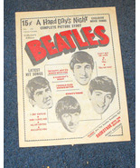 Beatles Songs Hard Day's Night film story Charlton Magazine 1964 rare - $16.99