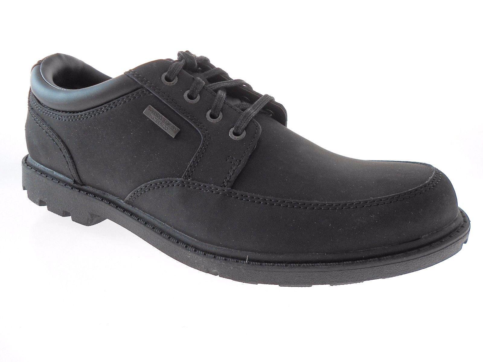 ROCKPORT K74357 MOCTOE  MEN'S BLACK NUBUCK CASUAL WALKING SHOES SZ 8 - $93.59