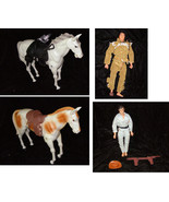 Lone Ranger Action Figure Lot Tonto & Horses 19... - £46.41 GBP