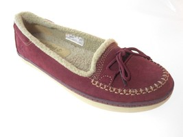 TIMBERLAND 8455A WOMEN'S BURGUNDY SUEDE SLIP-ON CASUAL SHOES sz 7.5, 8 - $38.99