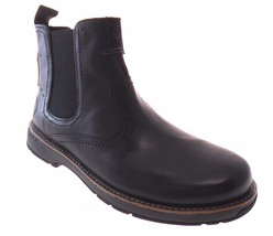 MERRELL REALM PULL MEN'S BLACK LEATHER PULL ON BOOTS, #J42135 - $2.228,14 MXN