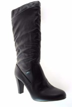 NINE WEST ANAO WOMEN'S BLACK HI HEEL BOOTS SZ.10 - $69.99