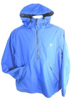 TIMBERLAND MEN'S BLUE WATERPROOF HALF-ZIP HOODED JACKET SIZE XL, #4767J-538 - $76.49