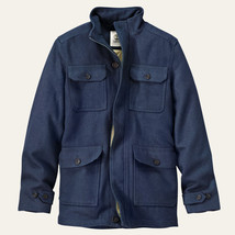 TIMBERLAND MEN'S MT.HAYES NAVY WOOL BLEND COAT #8146J-019 $228. - $102.60