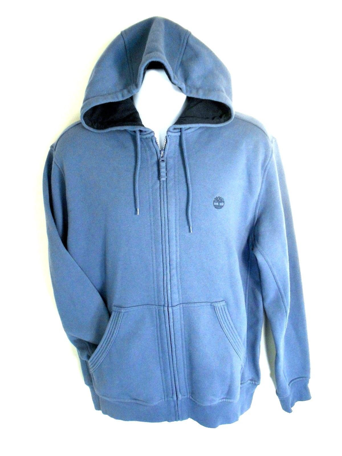 Primary image for TIMBERLAND MEN'S BLUE ESSENTIAL HOODIES SZ S, #5719J-432