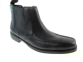 BOSTONIAN NICKY 22550 MEN'S BLACK LEATHER PULL-ON BOOTS SIZE 7 - $109.00