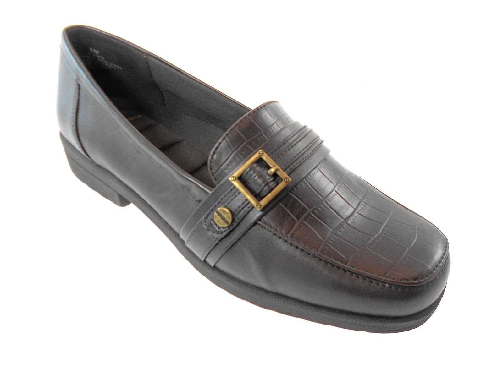 BROWN LEATHER SHOES SIZE 6 - $50.15
