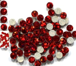 HOLOGRAM SPANGLES Hot Fix  RED  Iron on  6mm 1 gross - $4.72