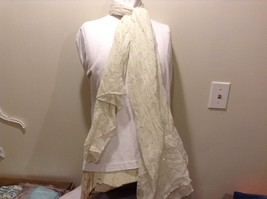 Charlotte Russe Off White Sheer Scarf with Sequins 100% Polyester