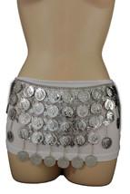 Women Ethnic Fashion Hip Belt Silver Metal Big Coin Charm Long Skirt Dan... - $24.49