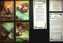 Hy Hintermeister Trail And Stream Salesman Sample Art Bigelow Press 1940's - $18.00