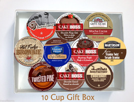 10 Cup CHOCOLATE Flavored Coffee GIFT BOX! Single Serve Cup GIFT Free Sh... - $19.98