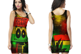 Rasta Reggae Bodycon Dress - $23.99+