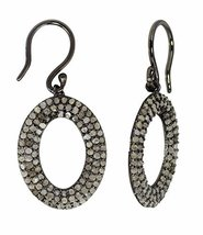 champagne diamond 925 sterling silver dangle earring for women - $124.73