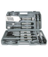 18-Piece Stainless Steel BBQ Grill Tool Set Spa... - $35.59