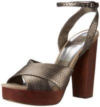 Dolce Vita Women's Callista Dress Sandal, Pewter Snake, 10 M US - £39.50 GBP