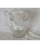 Vintage Glass pitcher one quart bubble detailing - $9.99