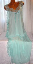 Mint Green Toga Style Lace Open Tie Look Side Long Nightgown 1X 2X 3X Pl... - $22.75