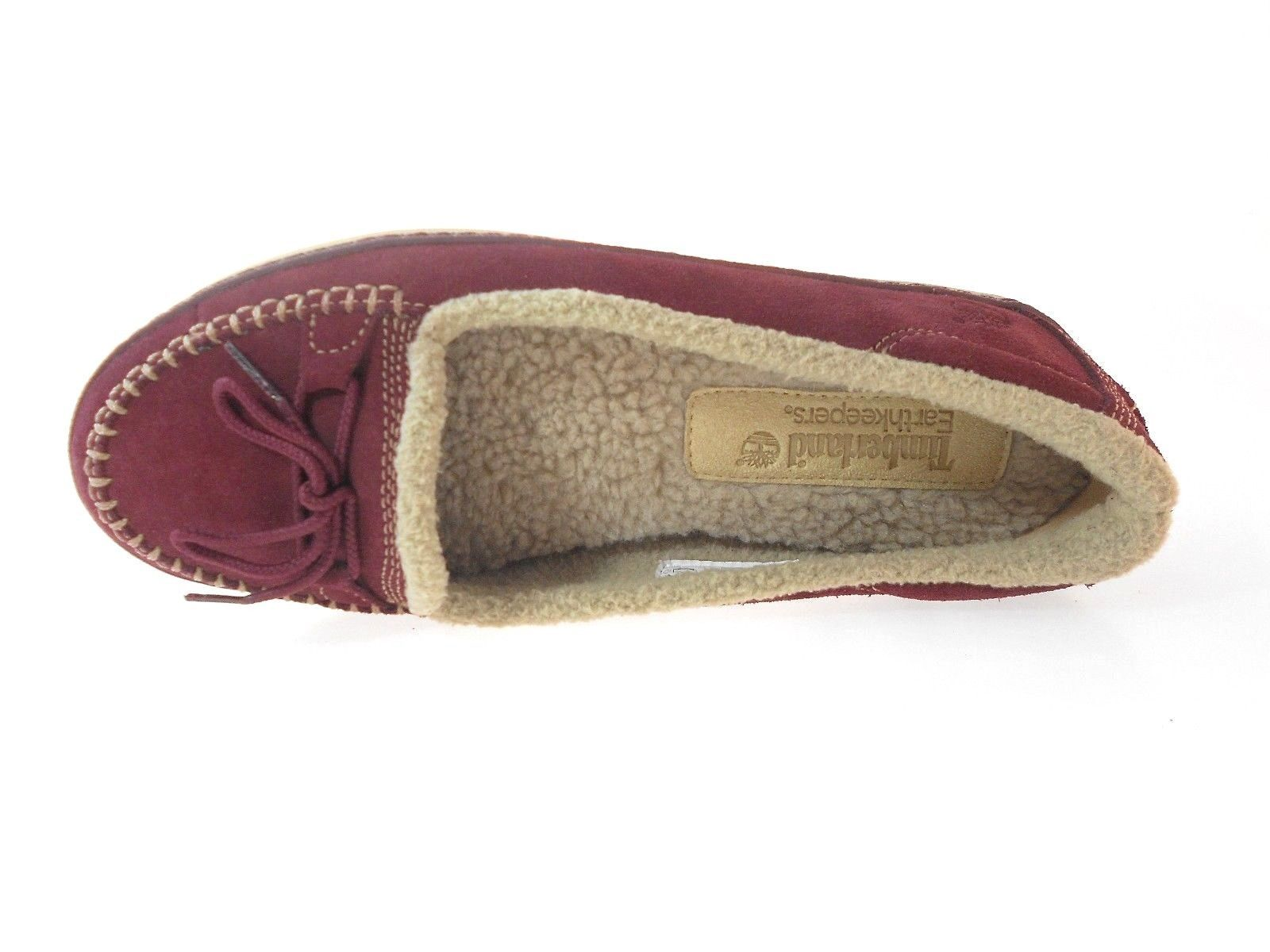 TIMBERLAND 8455A WOMEN'S BURGUNDY SUEDE SLIP-ON CASUAL SHOES sz 7.5, 8