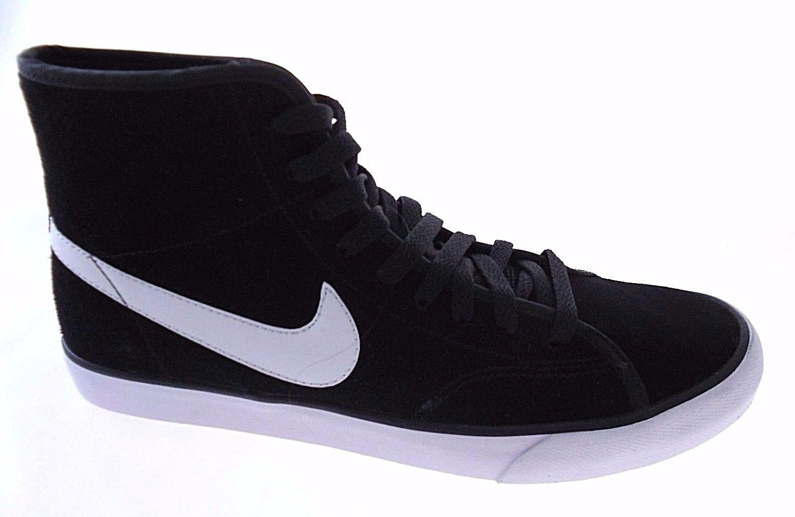 5e067eba3473 NIKE PRIMO COURT MID SUEDE WOMEN S BLACK WHITE CASUAL SNEAKERS SZ 10