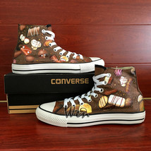 Chocolate Original Design Women Men's Converse All Star Hand Painted Shoes - $155.00