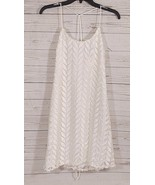 Women's Soieblu Spaghetti Strap Dress Adjust White Lace Leaf Size-Large - $46.74