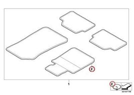 8 X BMW Genuine Floor Covering Velcro Element W... - $23.35
