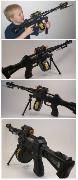 Primary image for Toy Tommy Sub Machine Gun Gangster Sniper Rifle with Bullet Canister and Bi-pod