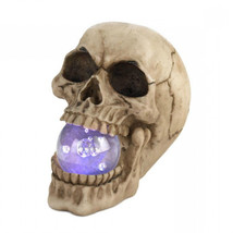 Halloween Indoor Decorations Skull Glass Orb Lights Up Porch Entry Way F... - £28.78 GBP