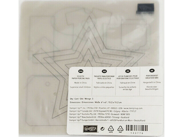 Stampin' Up! Eclectic Paper Piercing Pack, Set of 3 #133778