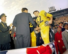 President John F. Kennedy greets players at Army-Navy Game New 8x10 Photo - $8.81