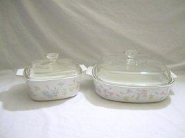 """4 Piece Set - Vintage Corning Ware """" Pastel Bouquet """" 1.5 & 2.5 Liter Co... - $61.33"""