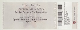 Rare 2017 LOST LANDS FESTIVAL 9/28/17 Thornville, OH Ticket! - $2.96