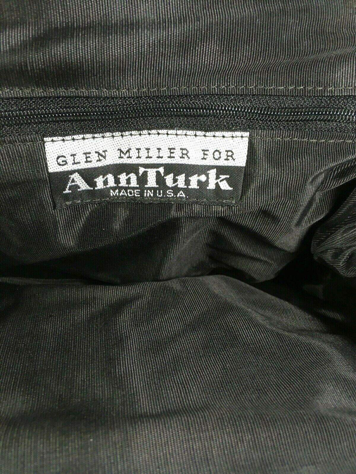 Glen Miller for Ann Turk Vintage Black Reptile Print Shoulder Bag – Made In Usa