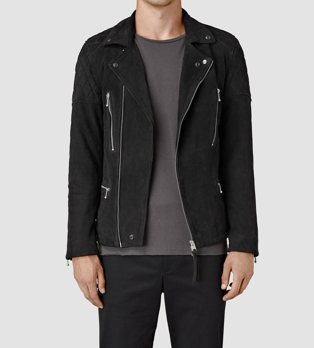 Men`s fashion black suede leather jacket, Suede jacket for men, Men`s jackets