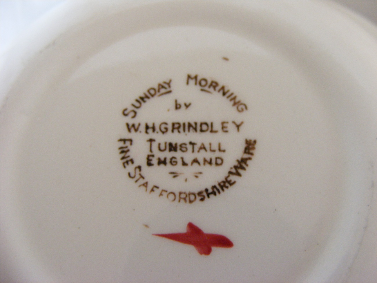 W H Grindley Fine Staffordshireware Sunday Morning soup or cereal bowl