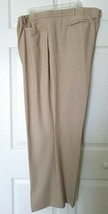 LANE BRYANT Size 28 Beige Natural Dress Pants Slacks Side & Back Pockets - $18.76