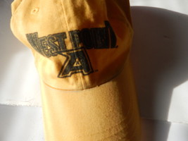 Vintage West Point Baseball cap hat with brown leather strap Made in Taiwan - $14.84