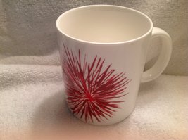 Starbucks Holiday 2014 White & Red Fireworks Burst Coffee Tea Mug Cup 12 Oz - $14.80