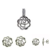 Designer Plain Pendant Earring Ring 925 Sterling Silver Jewelry Set SHPDS003 - $37.39