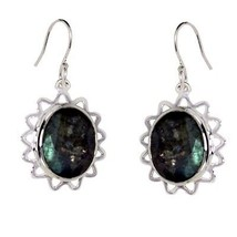 Classic Shining Labradorite Gemstone 925 Sterling Silver Earring Jewelry... - $9.23